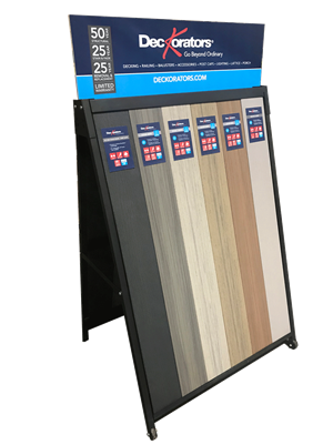 Deckorators A-frame Display for Dealers